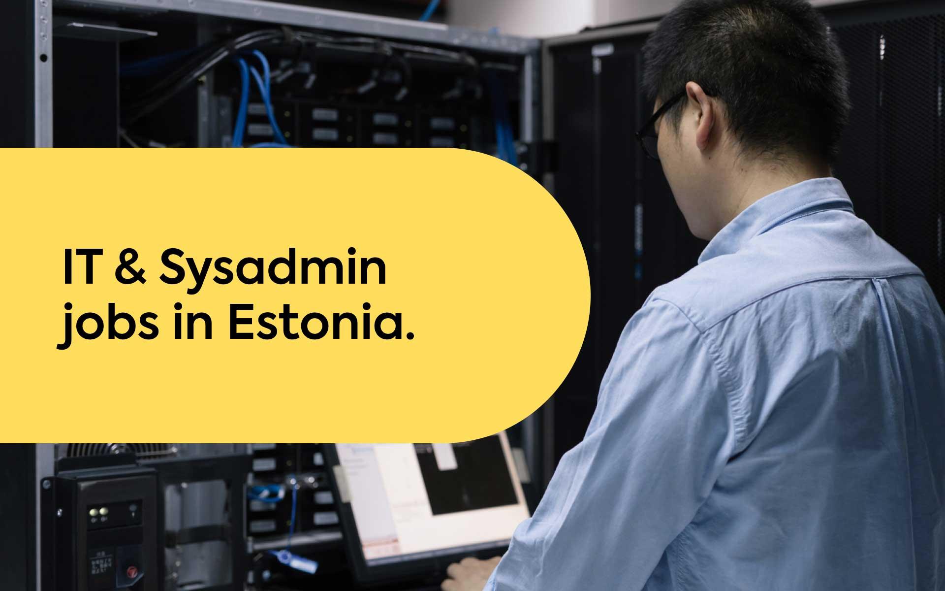 IT jobs in Estonia
