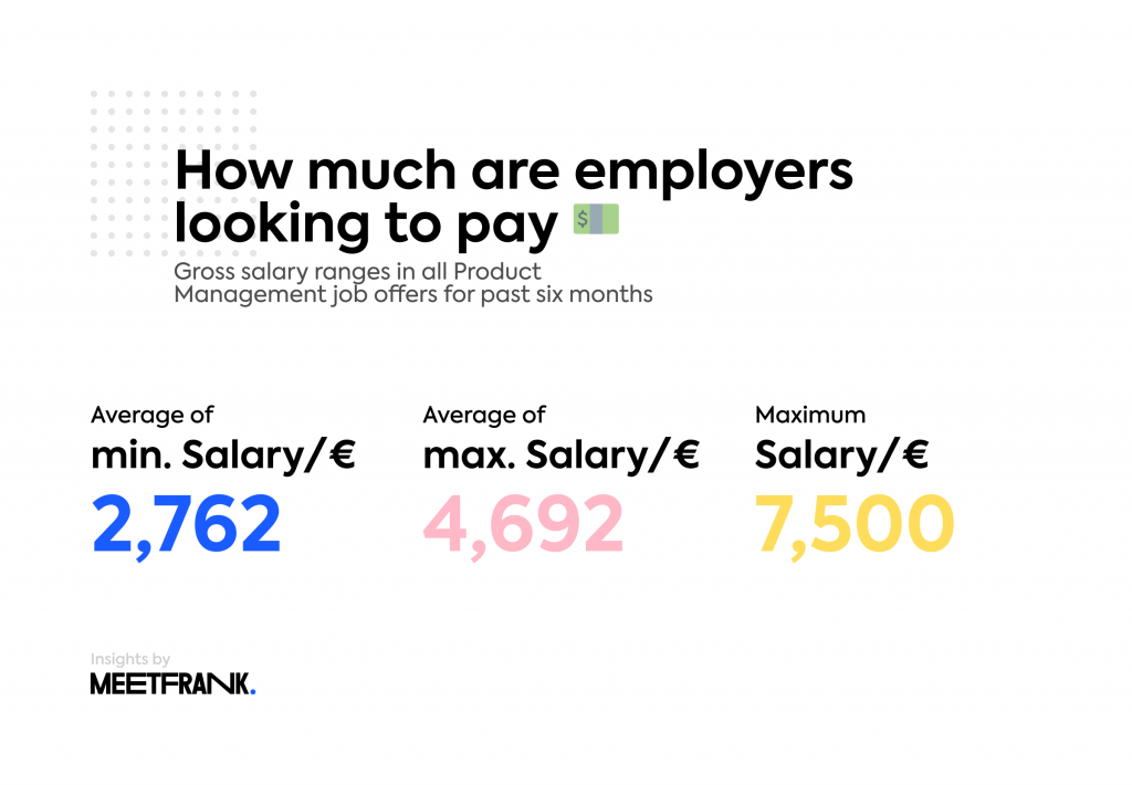 Salaries in product management jobs in finland