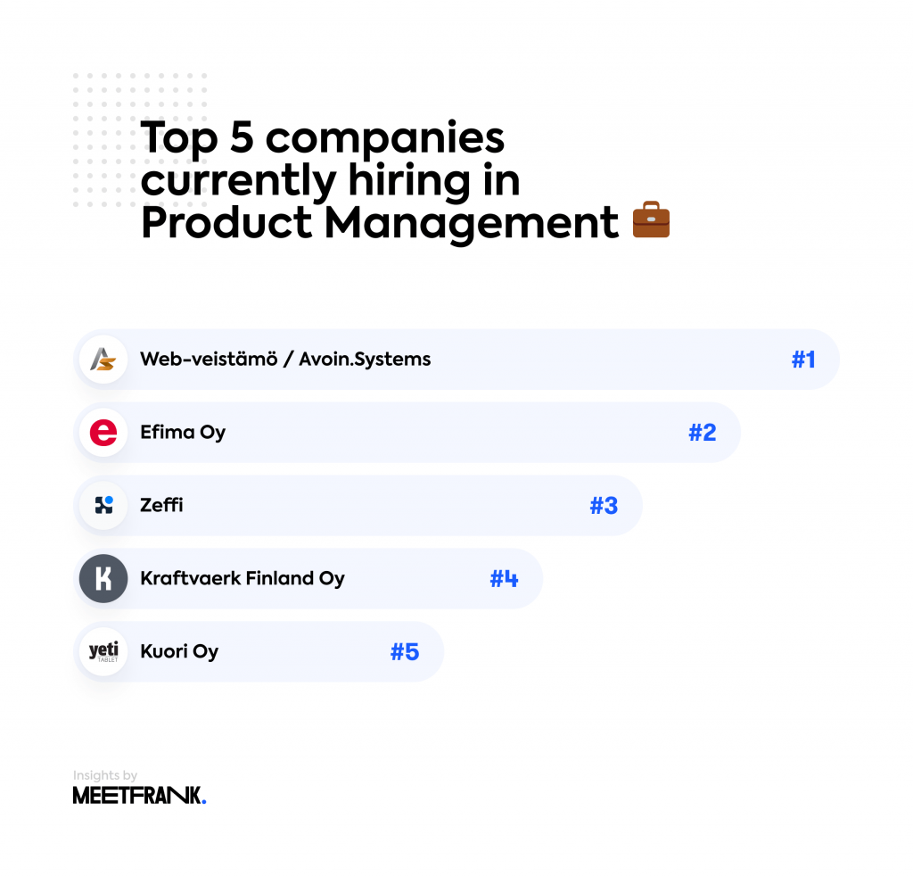 companies hiring in product management finland
