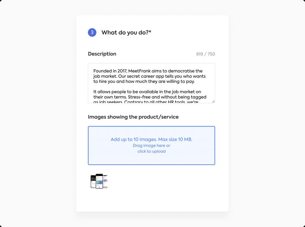 add description to company profile