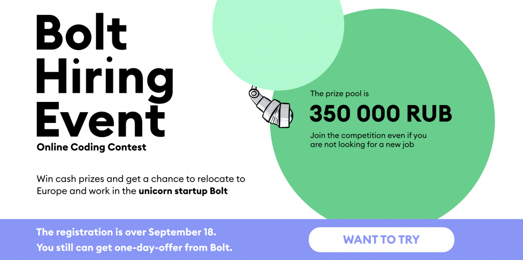 bolt hiring event