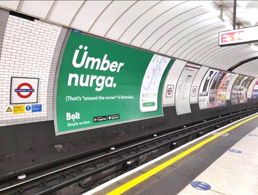 bolt ad in London