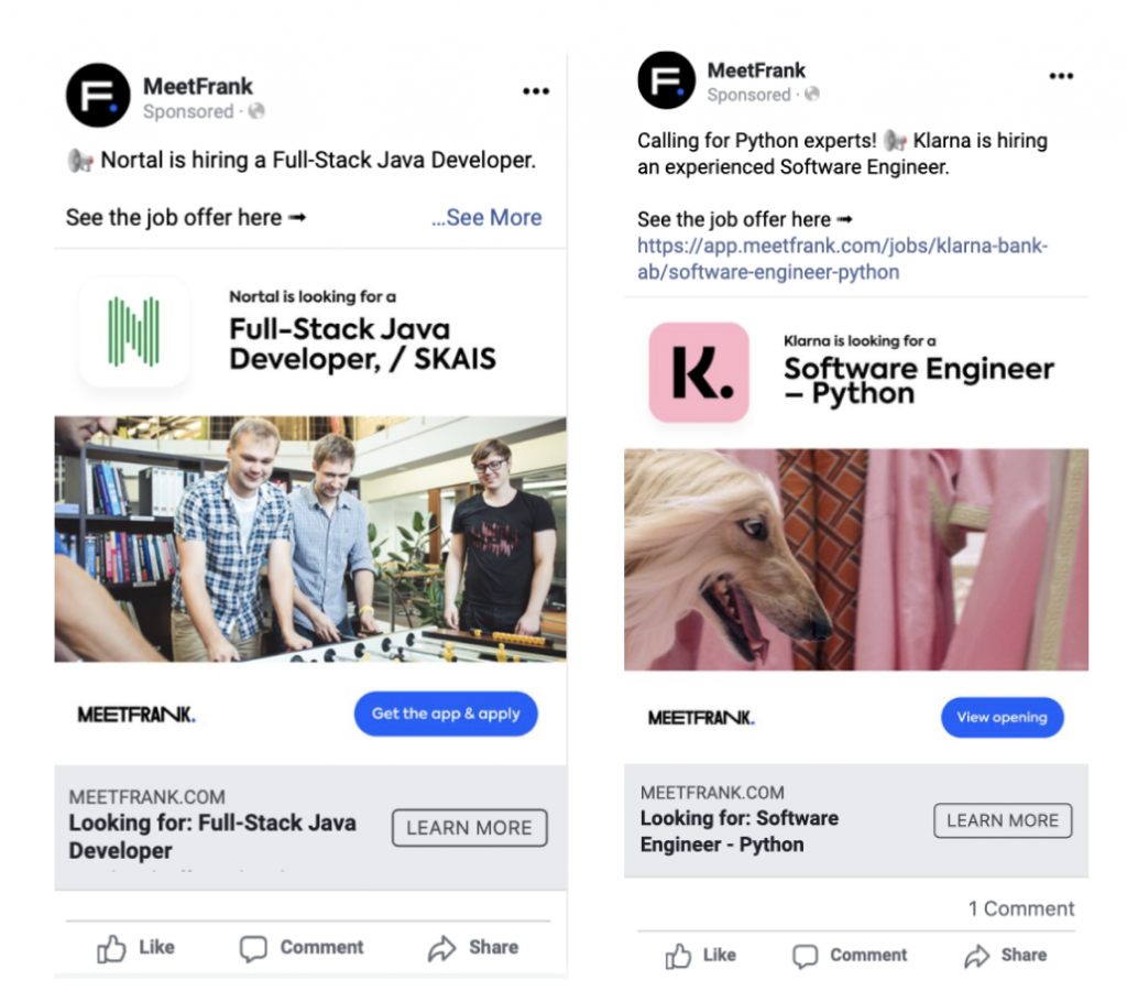 meetfrank facebook ads