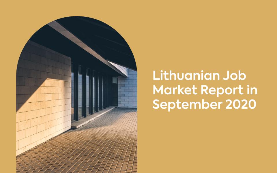 Lithuanian Job Market in September 2020