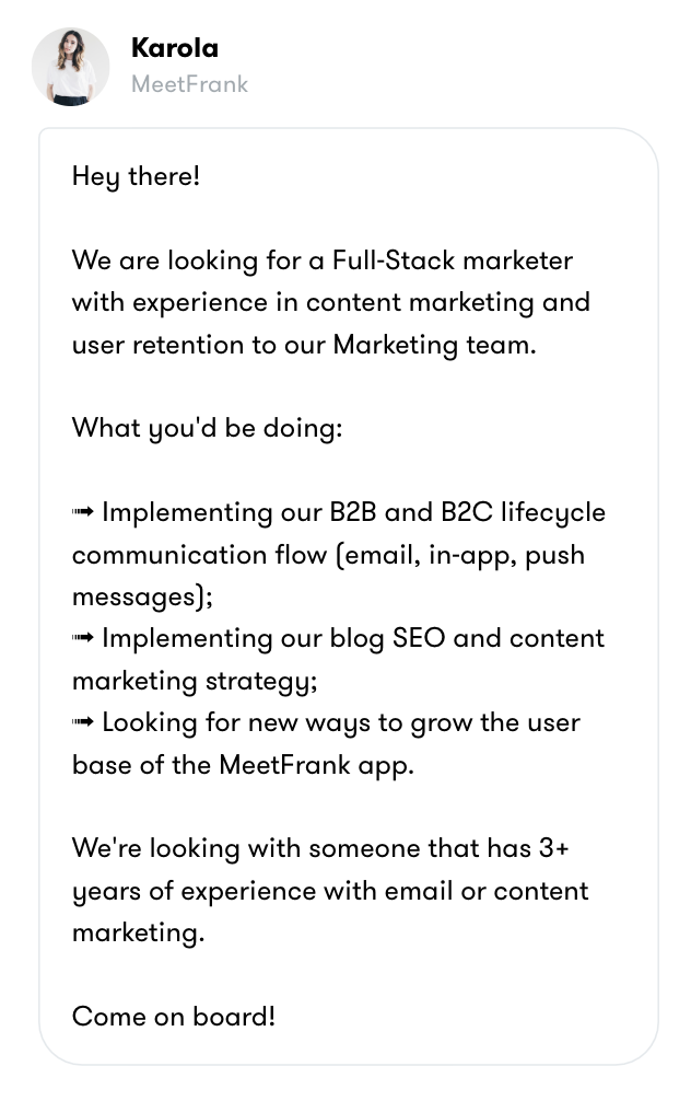 meetfrank job opening