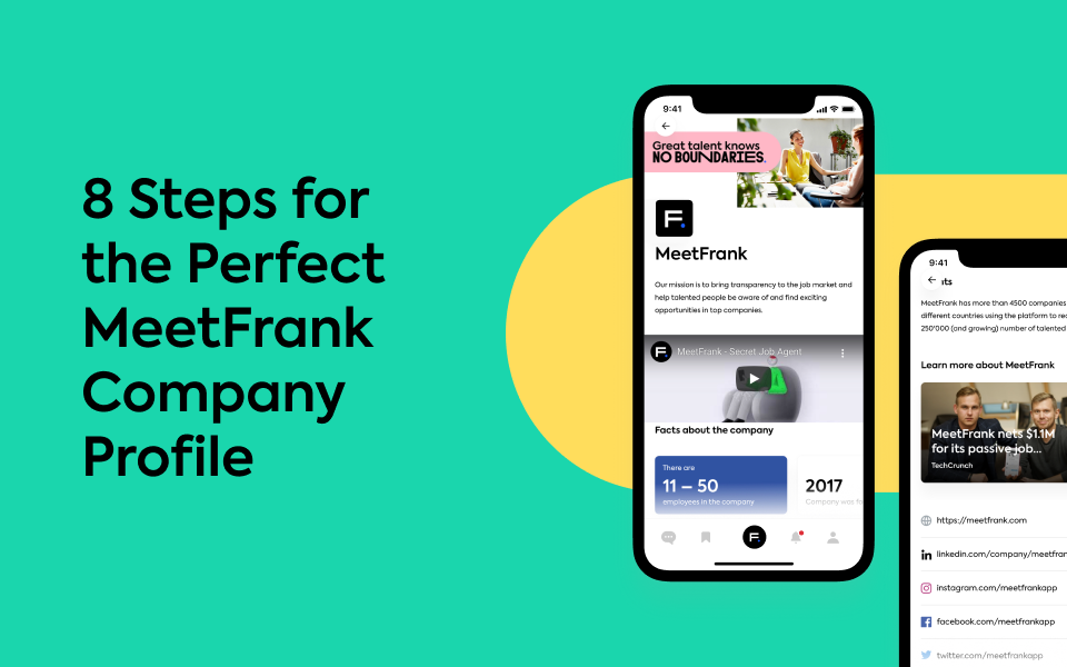 8 Steps for the Perfect MeetFrank Company Profile