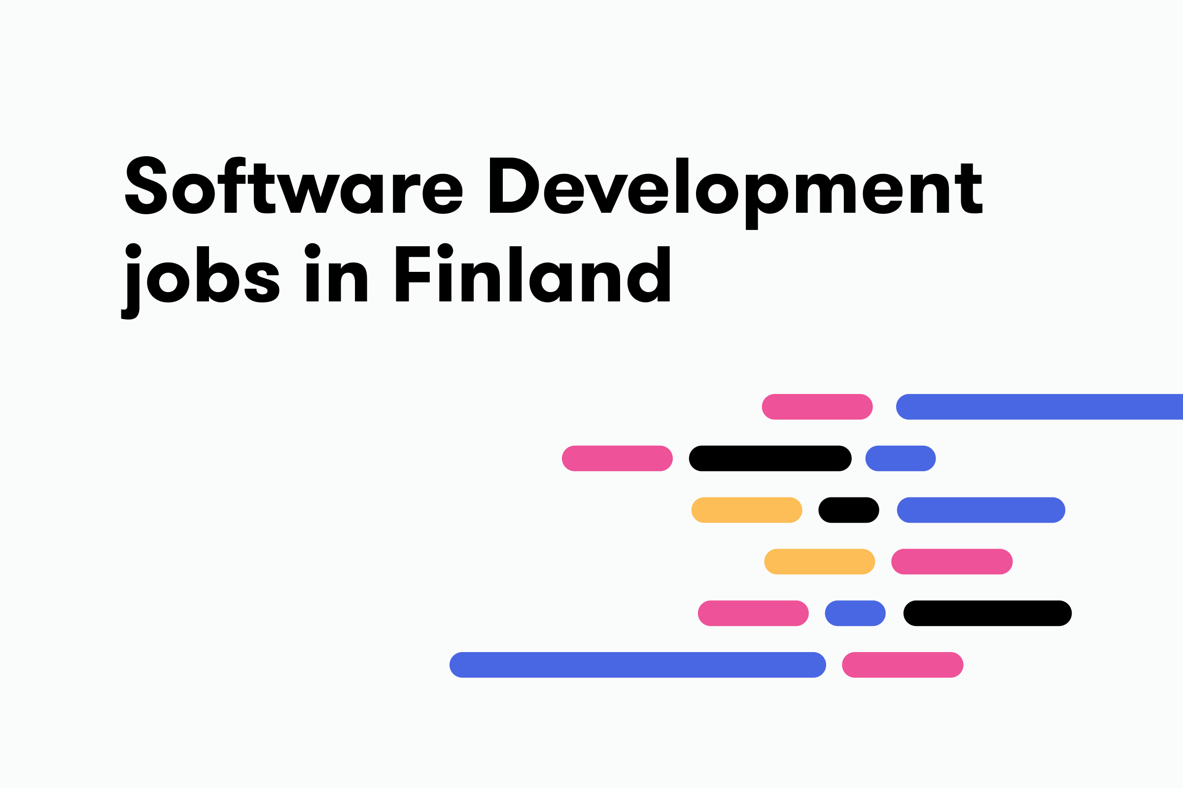 Software development jobs in Finland